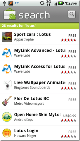 android market lotus