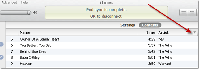 itunes z to a