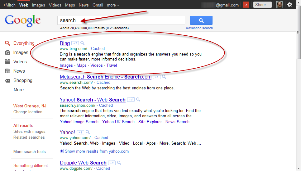 What happens when you google search search curiousmitch